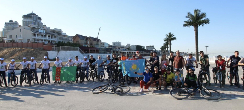 В Актау отметили Всемирный день велосипеда