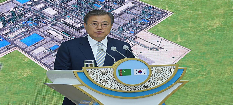 Мун Чжэ Ин: Республика Корея высоко ценит усилия Президента Туркменистана по развитию сотрудничества